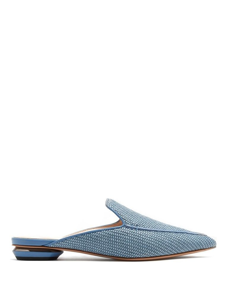Beya woven backless loafers