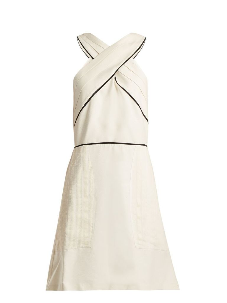 Helen pleated silk dress