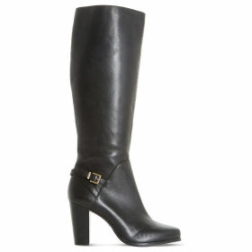 Dune Ladies Black High Quality Samuelle Knee-High Boots
