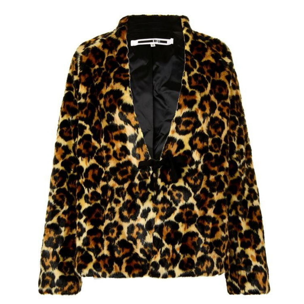 MCQ ALEXANDER MCQUEEN Faux Leopard Jacket