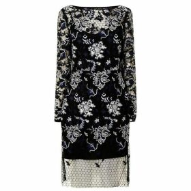 Diane Von Furstenberg Floral Lace Long Sleeved Dress