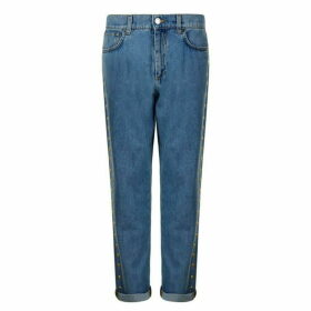 Moschino Studded Boyfriend Jeans