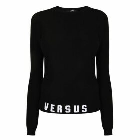 Versus Versace Band Logo Knit Jumper