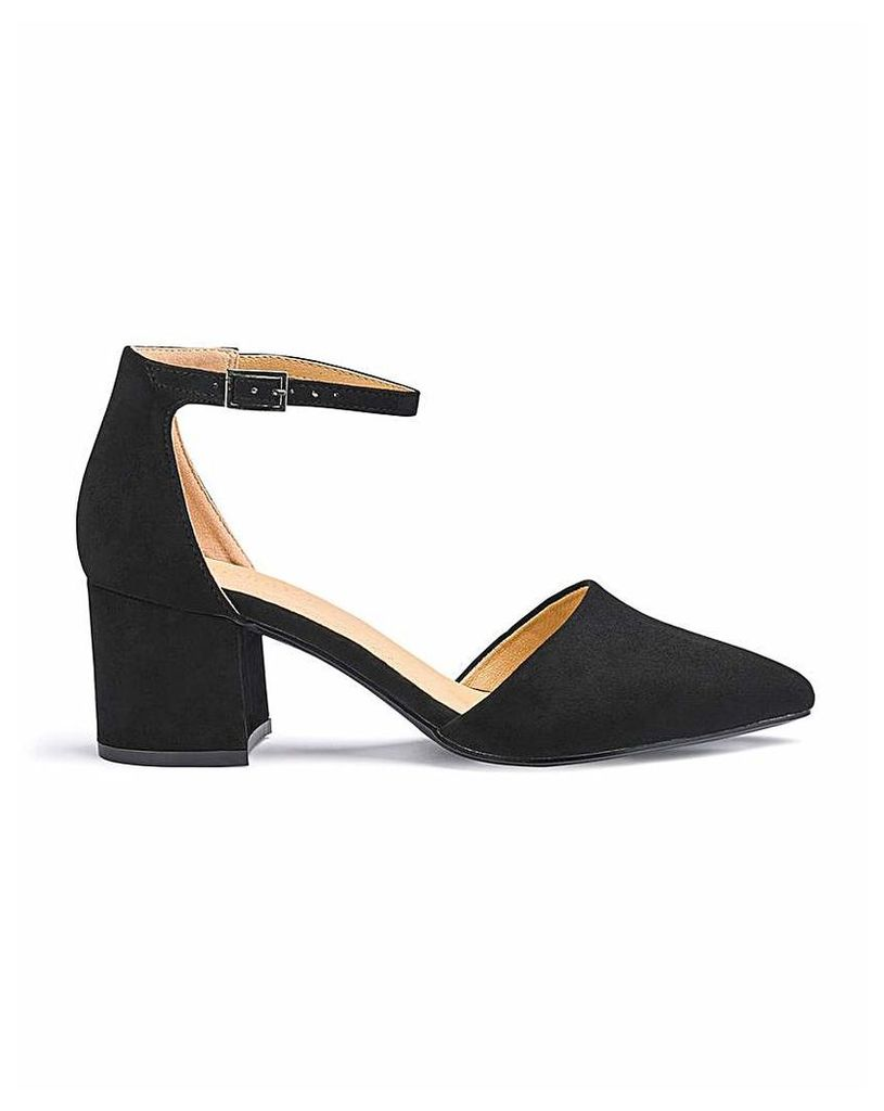 Clio Pointed Block Heels Wide Fit