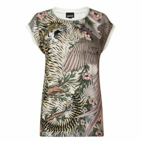 Just Cavalli Tiger Oversized T Shirt
