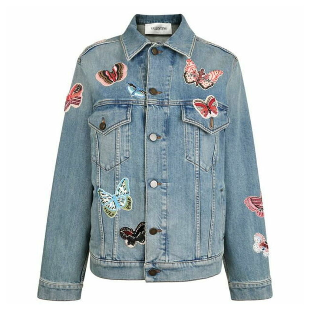 VALENTINO Butterfly Embroidered Jacket