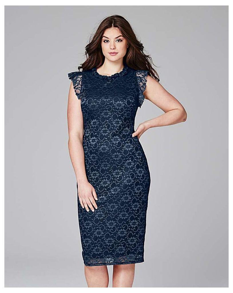 High Neck lace Dress