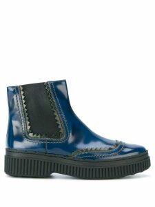 Tod's flatform chelsea boots - Blue