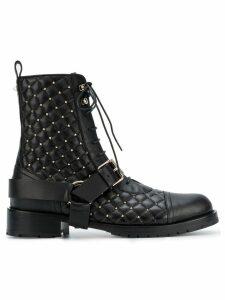 Valentino Valentino Garavani Rockstud quilted boots - Black
