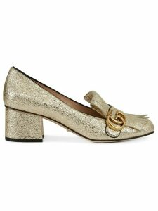 Gucci Gold Marmont Leather pumps - Metallic