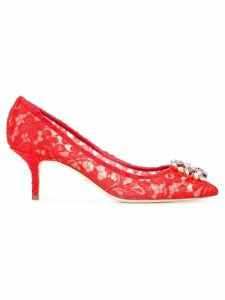 Dolce & Gabbana Bellucci lace pumps - Red
