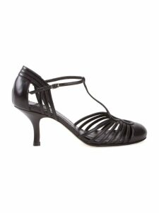 Sarah Chofakian Chamonix leather sandals - Black