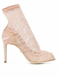 Dolce & Gabbana pumps with lace socks - Neutrals