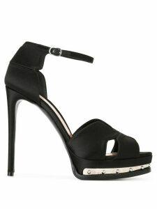 Alexander McQueen hobnail platform sandals - Black