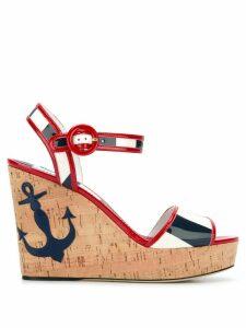 Dolce & Gabbana Keira wedge sandals - Red