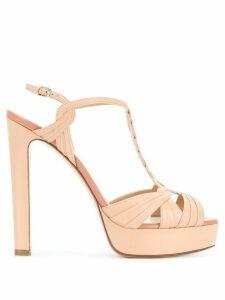 Francesco Russo Hill T-bar platform sandals - Pink