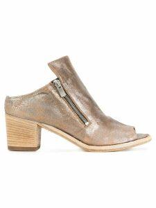 Officine Creative open toe cracked detail sandals - Neutrals