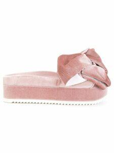 Joshua Sanders Flamingo velvet bow sandals - Pink