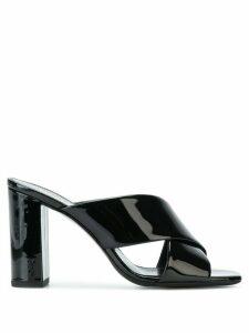 Saint Laurent LouLou 95 cross strap sandals - Black