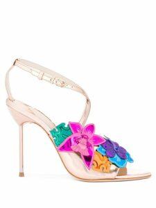 Sophia Webster floral metallic sandals - Multicolour