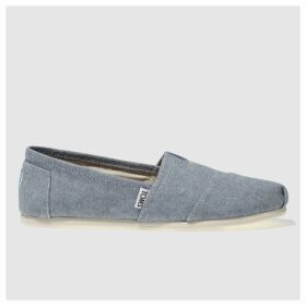Toms Pale Blue Alpargata Flat Shoes