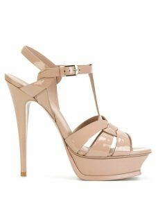 Saint Laurent Classic Tribute 105 sandals - NEUTRALS