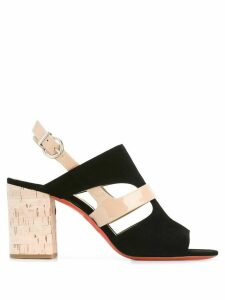Barbara Bui cut-out detail sling-back sandals - Black