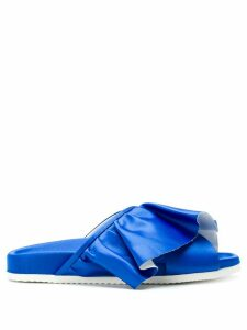 Joshua Sanders ruffled slides - Blue
