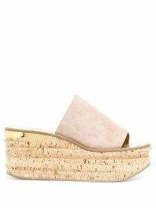 Chloé Camille wedge mules - PINK