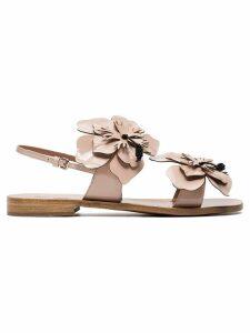 Miu Miu Sandals with flower detail - Neutrals