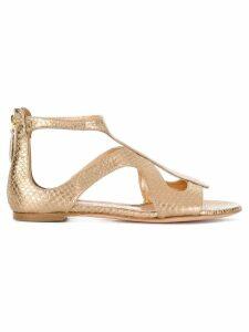 Alexander McQueen strappy sandals - Metallic