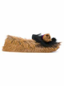 Prada furry slippers - Brown