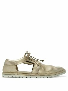 Marsèll cut out lace-up shoes - Metallic