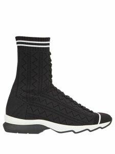 Fendi open work sneakers - Black