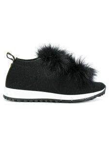 Jimmy Choo fox fur sneakers - Black
