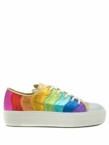 Charlotte Olympia metallic Purrrfect sneakers - Multicolour