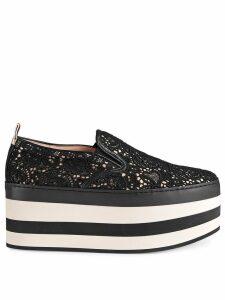 Gucci Lace platform sneakers - Black