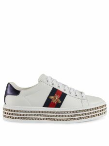 Gucci Ace sneakers with crystals - White