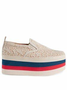 Gucci Lace platform sneaker - White