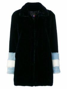La Seine & Moi Carene faux fur coat - Blue