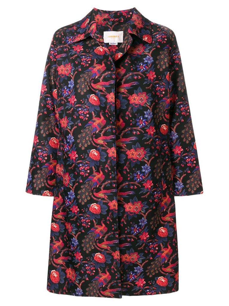 La Doublej a-line jacquard jacket - Black
