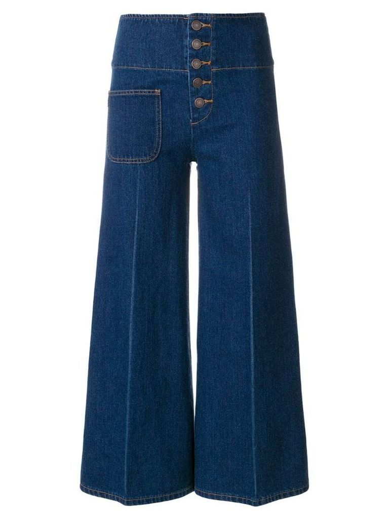 Marc Jacobs cropped high waist trousers - Blue