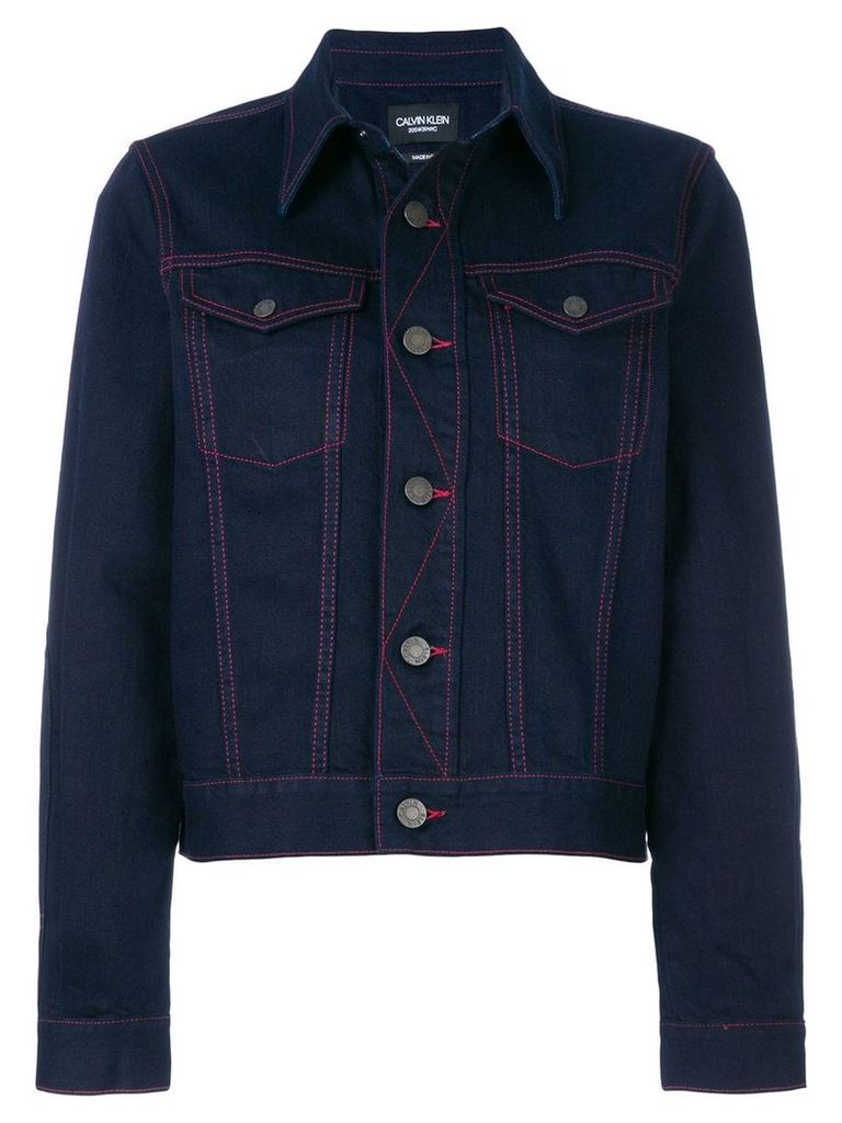 Calvin Klein 205W39nyc contrast denim jacket - Blue