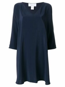 Gianluca Capannolo deep V-neck dress - Blue