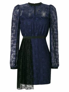 Three Floor Mercredi dress with pleated front detail - Blue
