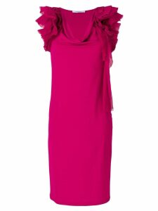 Givenchy ruffle-trim shift dress - Pink