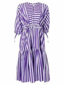 Maison Rabih Kayrouz striped flared dress - Purple