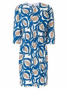 Marni leaf print dress - Blue