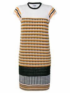 MSGM patterned knit dress - Yellow
