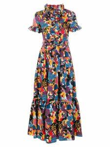 La Doublej Zoo print dress - Blue